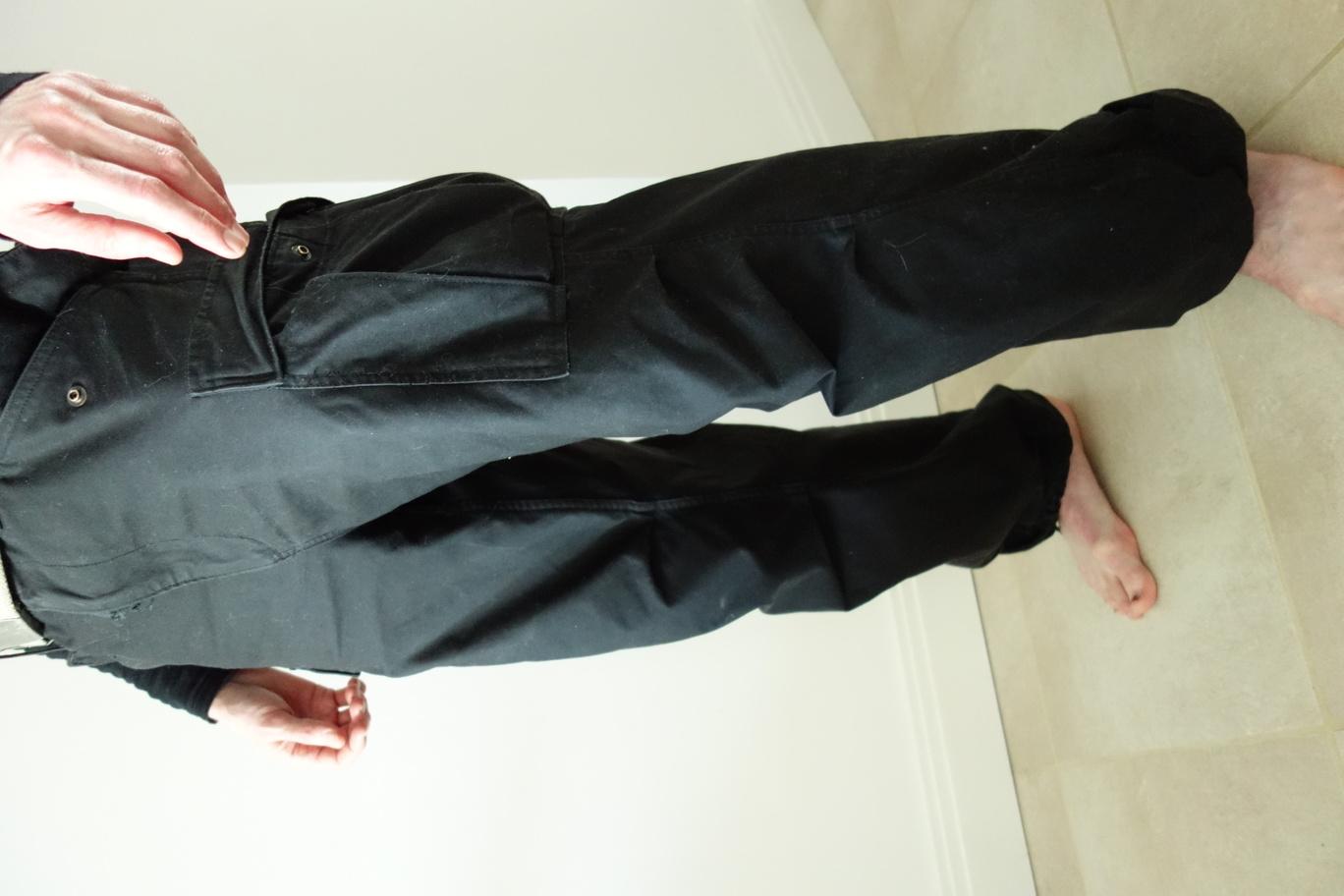 Helikon Tex M65 trousers, black, half-profile